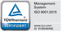 TÜV Rheinland Zertifizierung